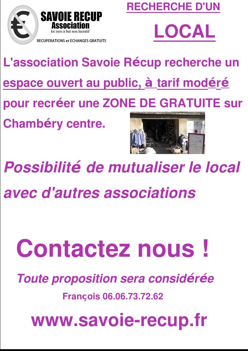 V los savoie r cup association de r cup ration chamb ry - Association de recuperation meubles gratuit ...