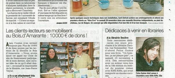 Article sur le dauphin lib r 14 11 2014 savoie r cup - Association de recuperation meubles gratuit ...