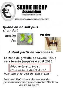 Vacances d t savoie r cup association de - Association de recuperation meubles gratuit ...