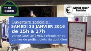 ouverture 23 janiver 2016