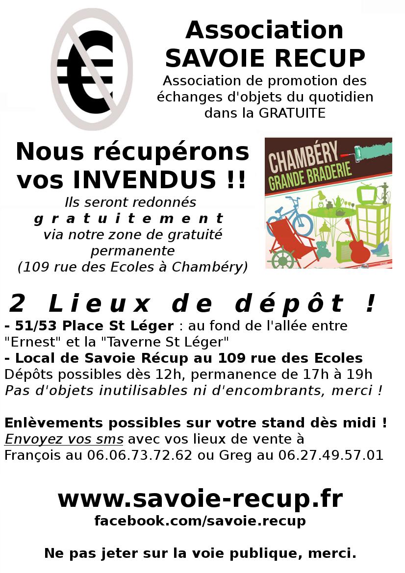 Savoie r cup r cup re les invendus de la braderie 2017 savoie r cup ass - Association de recuperation meubles gratuit ...